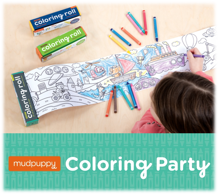 FREE Mudpuppy Coloring Party!