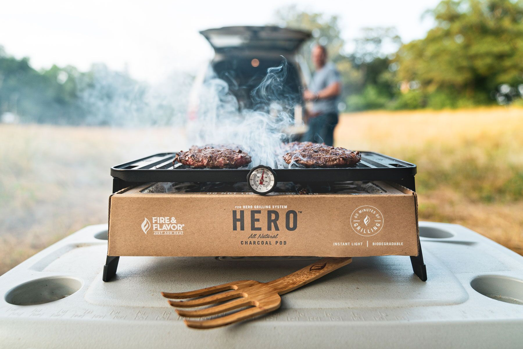 <small>Fire & Flavor® HERO™ Grill Kickoff Party</small>