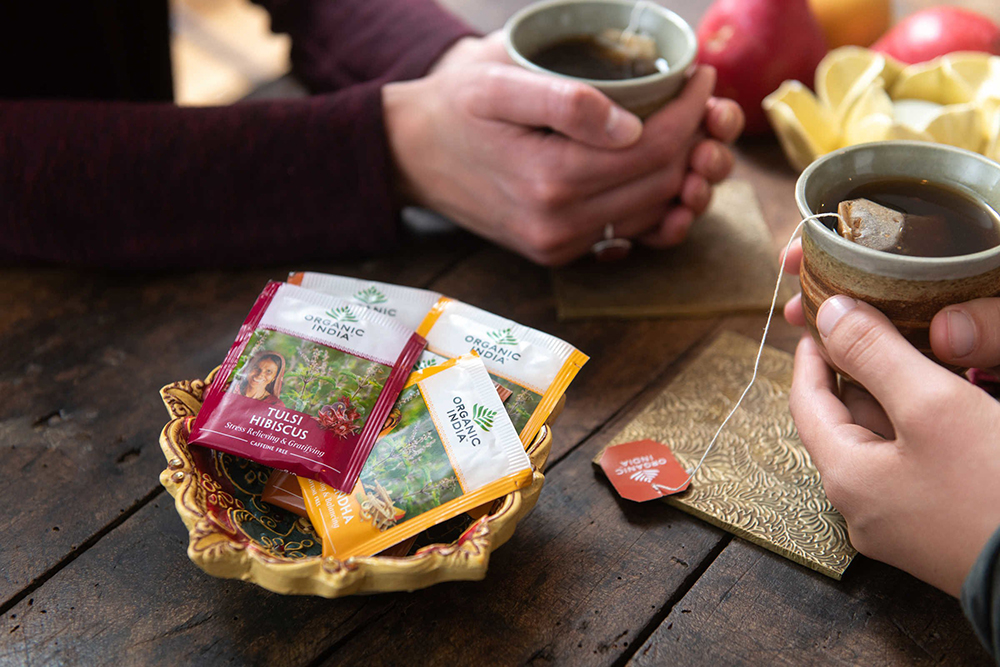 <small>Organic India® - No Tech Tea Party</small>