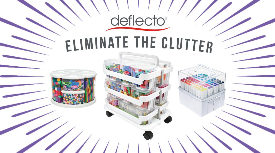 <small>Deflecto's Eliminate the Clutter Party</small>